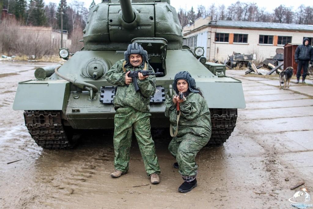 Подарок езда на танке 80