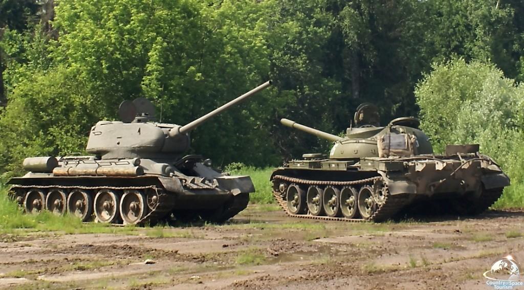 Катание на танке и военной технике