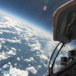 Вид из кабины во время полета в Стратосферу.