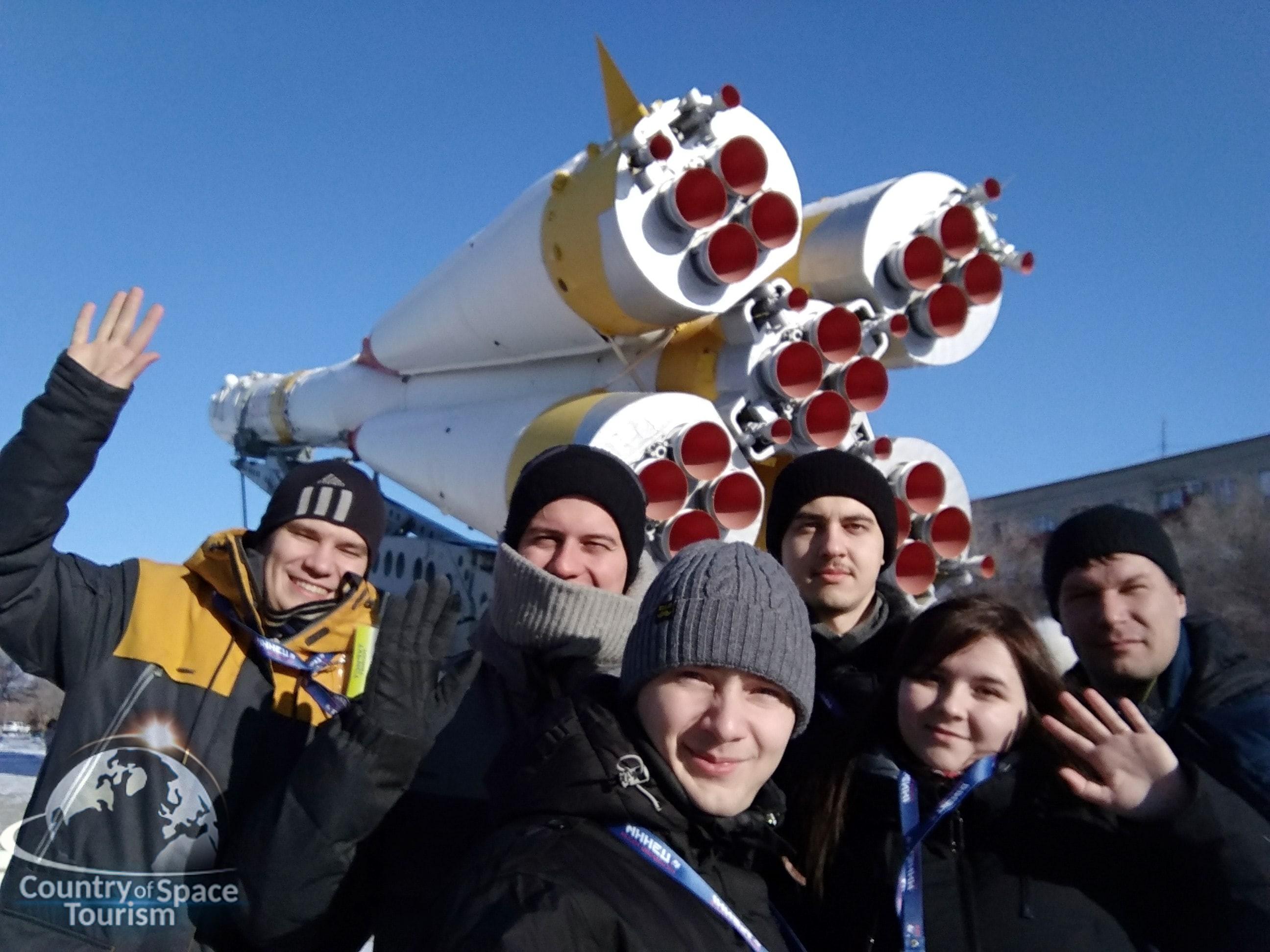 У ракеты Союз в горде Байконур