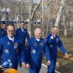 Космонавты за 6 часов до старта
